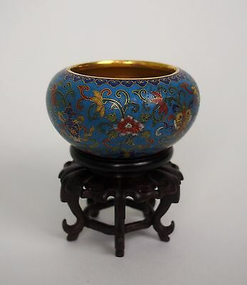 A Fabulous Cloisonne 'Alms' Bowl, with QianLong mark and Stand