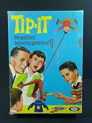 Vintage 1965 Tip-it The Wackiest Balancing Game Ever! by Ideal 100% COMPLETE!