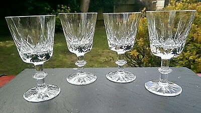 ROYAL BRIERLEY CRYSTAL ASCOT PATTERN 5 x WINE  GLASSES, 2nd quality