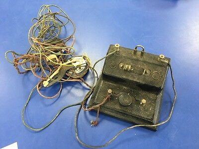 BBC Brownie Crystal Radio With PMC Type Approved Headphone Shells - READ