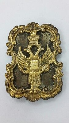 RRR Very rare collectible early Russian Imperial buckle with gilt 18–19 century