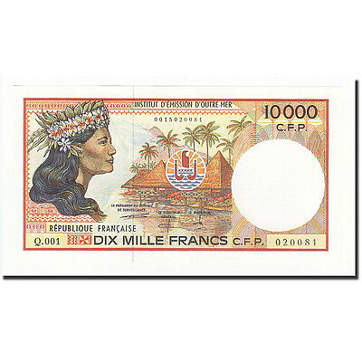 [#164581] French Pacific Territories, 10,000 Francs, 1985-1996, KM:4b, NEUF