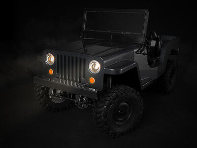 RC Jeep  Body LIGHT BUCKETS Gmade SawBack MILITARY JEEP LED HOUSING -NEW-