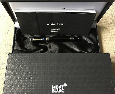 Montblanc Boheme Platinum Line Fountain Pen With Blue Stone - New Unused