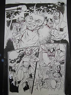 Steve Pugh original art from Blade issue1 page 2 Marvel Max 2002