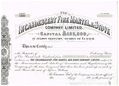 Incandescent Fire-Mantel and Stove Co., 189x, specimen