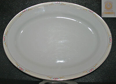 Noritake The Celtic 14 Inch Oval Serving Platter 1930s Morimura Era China