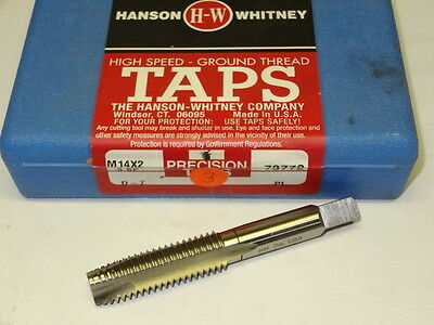 new HANSON WHITNEY M14 X 2 D7 3FL D-7 Plug HSS Spiral Point Tap 73772 USA