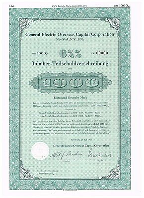 General Electric Overseas Capital Corp. New York, USA, specimen