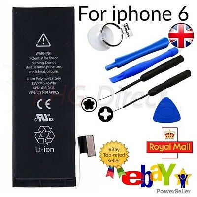 Genuine Replacement Battery for Apple iPhone 6 1810mAh 3.8V Li-ion UK Plus Tools