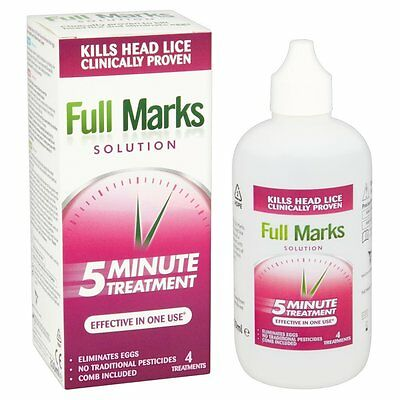 Full Marks Solution 4 Treatments In 10 Minutes 200 ml Kills Head Lice And Eggs