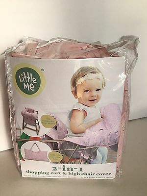 Little Me Shopping Cart And High Chair Cover Pink Rose Floral  NEW Cottage