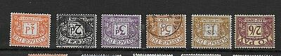 1959 Gb Postage Dues  Crowns Inverted Watermark Part Set Of Six