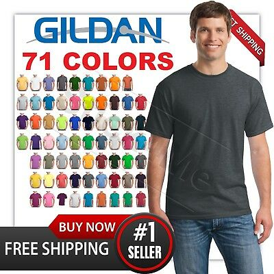 New MANS CASUAL BLANK TEE GILDAN T SHIRT G5000 100% COTTON s-3xl