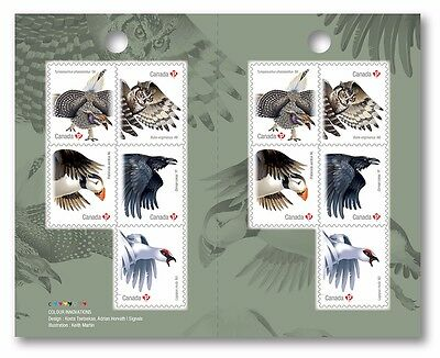 ca. PUFFIN, OWL, RAVEN, EXOTIC BIRDS One Booklet of 10 stamps, MNH Canada 2016