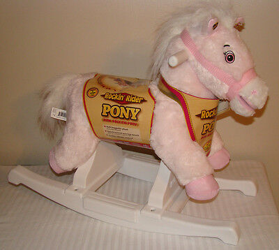 Rockin' Rider Pony Pink Talks & Sings Animated Rocking Horse Ride On Toy New