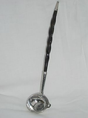 Antique Silver Coin Toddy Ladle