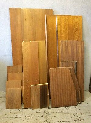 Large job Lot Of Teak And Tola Offcuts Mid Century Furniture Parts Danish G Plan