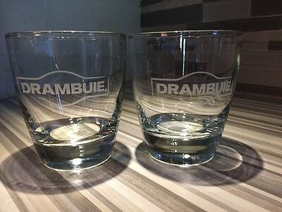 Drambuie Scottish Liqueur Etched Glass New Set of 2 + Insulated Mug
