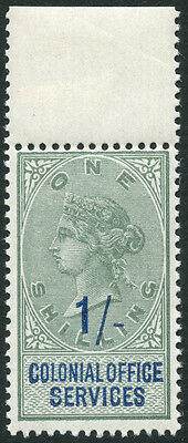 GB QV 1s COLONIAL OFFICE SERVICES UNMTD MINT MNH SCARCE REVENUE FISCAL DUTY TAX