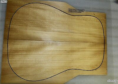1 Torrefied Dreadnought Adirondack Red Spruce Guitar set (2403) Very Stiff