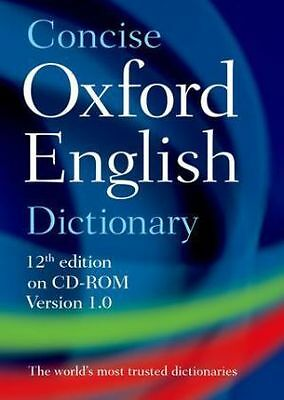 Concise Oxford English Dictionary, CD-ROM - Win...-NEW-9780199601097