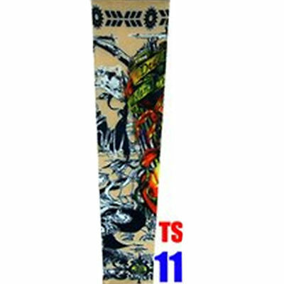 2x Men Cycling Bicycle UV Sun Block Protection Warmer Tattoo Arm Sleeve Covers