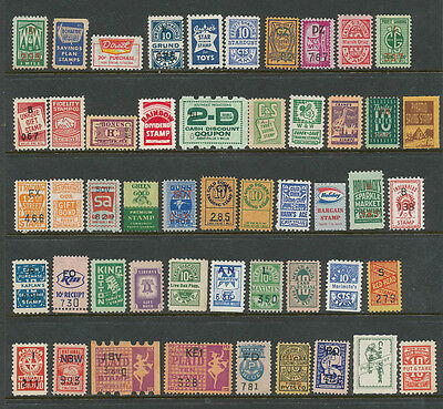 LOT OF 50 DIFFERENT TRADING STAMPS, MANY SCARCE BRANDS! Mint, NH.