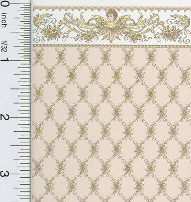 Dollhouse Miniature 1:24 Scale St. Elizabeth Pink Wallpaper