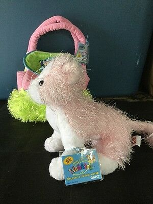 Webkinz Ganz Plush Pet Carrier With Pet Sealed Codes