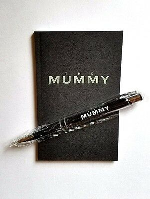 Official 2017 The Mummy Movie Promo Notebook & Pen Tom Cruise Universal Monsters