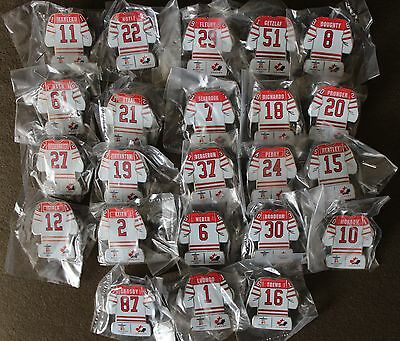 23 Players CANADA Jersey SET HOCKEY Vanc 2010 Olympic PIN NEW