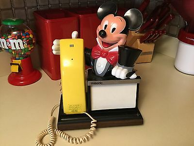 Vintage Mickey Mouse Character Message Pad Telephone Unison Phone Disney World