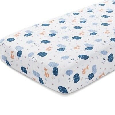 Aden+ Anais Fitted Cot Sheet Baby Organic Cotton Muslin New - Into Woods