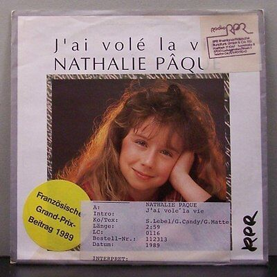 "(o) Nathalie Paque - J'Ai Vole La Vie (7"" Single)"