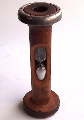 Bobbin Spool Egg Game Timer Sand Glass Roughly 3.5 Minutes Vintage  Hourglass