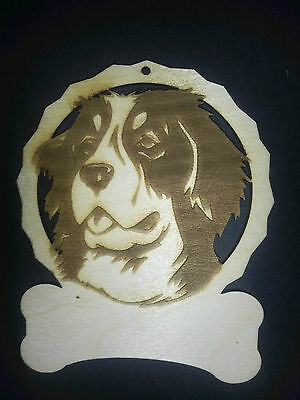 Personalized bernese mountain dog ornament