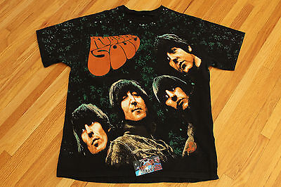 Vintage 90s Beatles Rubber Soul Backstage Pass Winterland Single Stitched Tee
