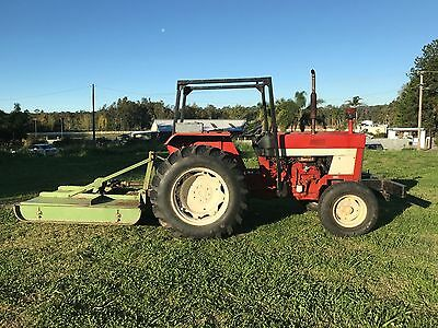 International 484 3 Cylinder Diesel Power Steer Tractor With 6 Ft Slasher