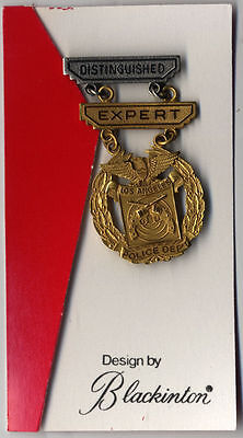 "L21b-Los Angeles Police Shooting Medal ""Distinguished/Expert""-NEW"