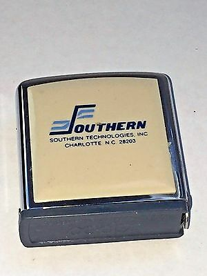 Vintage Southern Technologies, Charlotte, NC  Advertising Zippo Tape Measure
