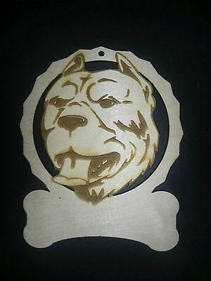 Personalized Pit Bull dog ornament