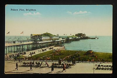 1930s Palace Pier Brighton UK East Sussex Co Postcard