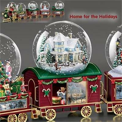 THOMAS KINKADE Home For the Holidays Wonderland Express Snow Globe TRAIN #3 NEW
