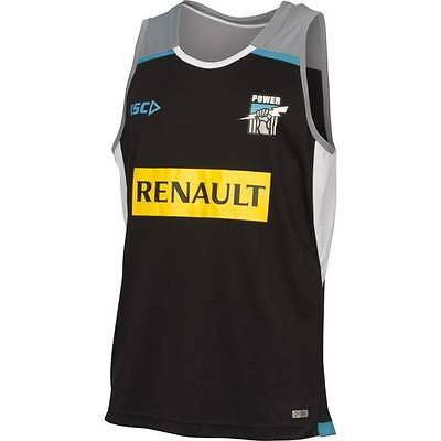 Port Adelaide Power AFL Players ISC Training Singlet Black Grey Size S-3XL!5