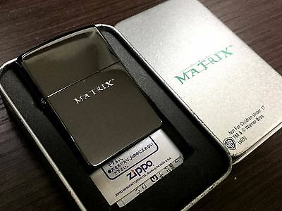 "Very Rare! ZIPPO 2003 ""The Matrix: the White Rabbit"" Lighter Glossy Black"