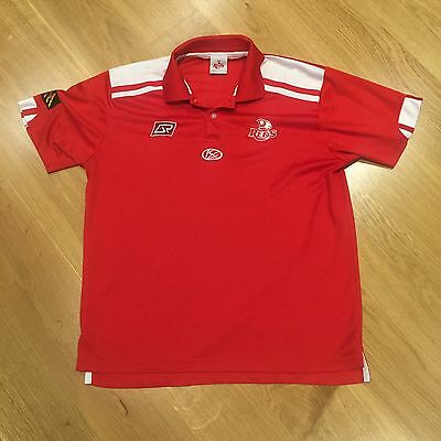 Queensland Reds ISC Rugby Union Supporters Red Polyester Polo Shirt Mens Large