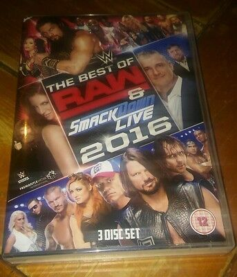 WWE DVD BEST OF RAW & SMACKDOWN 2016 watched once wwf ecw tna roh wcw nxt
