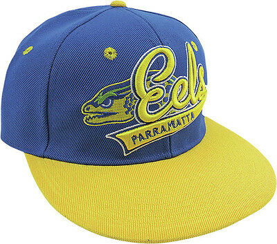 Parramatta Eels NRL Script Embroidered Flat Peak Kids Children Cap!