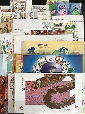 China Macau 2001 Whole Year of Snake Full stamps S/S set